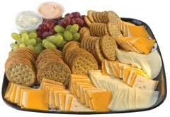 Cracker and Cheese Platter 20 Servings