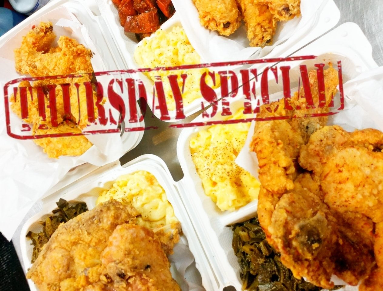 THURSDAY: Fried Pork Chop Plate with 2 Sides