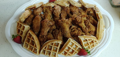 30 Wings & Waffles Platter Ala Cart